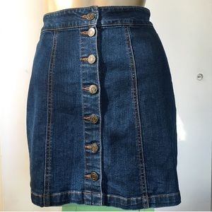 Mudd Button Down Denim Skirt